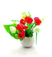 Цветы в горшке 16х7х7см (27104)