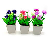 Цветы в горшке (18х7х7см)