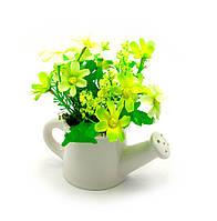 Цветы в лейке 14х13,5х7,5см (27073)