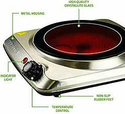 Плита інфрачервона керамічна LEXICAL LHP-2703 1500ВТ, фото 3