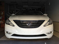 НАШИ РАБОТЫ: Hyundai Sonata, обклеивание антигравийной плёнкой