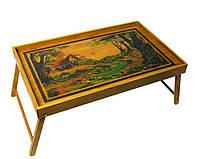 Столик для завтрака в постель бамбук 54х23х33см (27935)