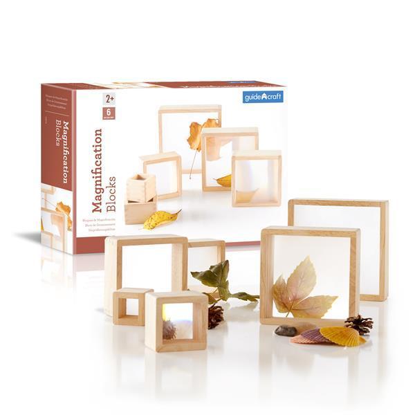 Набор блоков Guidecraft Natural Play Лупа, 10 шт. (G3018)