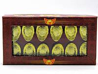 Чаша богатства золотая набор 12шт 14х8х2,5см (18436)
