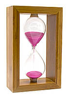 Часы песочные в бамбуке 20х12,5х6см (24231)