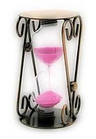 Часы песочные в металле (12,5х7х7см)