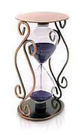 Часы песочные сувенирные в металле 16,5х9х7см (22149)