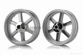 Диск колеса передний  12-3.50  литой, 6 спиц, диск, d12