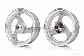 Диск колеса передний  12-3.50  литой, 3 спицы, d12