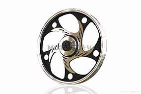 Диск колеса передний  17-1.40  Alpha/Active  d12, литой, усиленый, черный  #круг