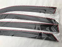 Дефлекторы окон Chery Bonus Sedan 2011- Ветровики ANV накладки