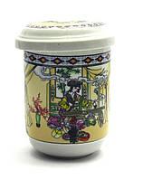 """Чашка заварочная с ситом 230мл """"Гейши"""" h-11см, Ø 6,5см (27858)"""