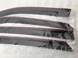 Дефлекторы окон Citroen C4 II Sedan 2012- Ветровики ANV накладки