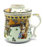 """Чашка заварочная с ситом 300мл """"Гейши"""" h-9cм, Ø 8см (28657)"""