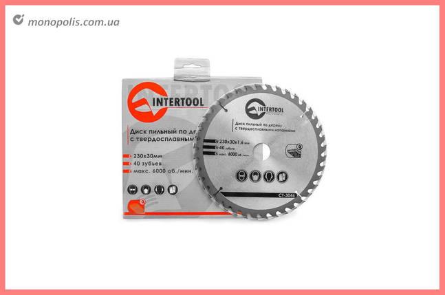 Диск пиляльний Intertool - 230 х 40T х 30 мм, фото 2