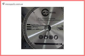 Диск пиляльний Intertool - 230 х 60T х 30 мм, фото 2