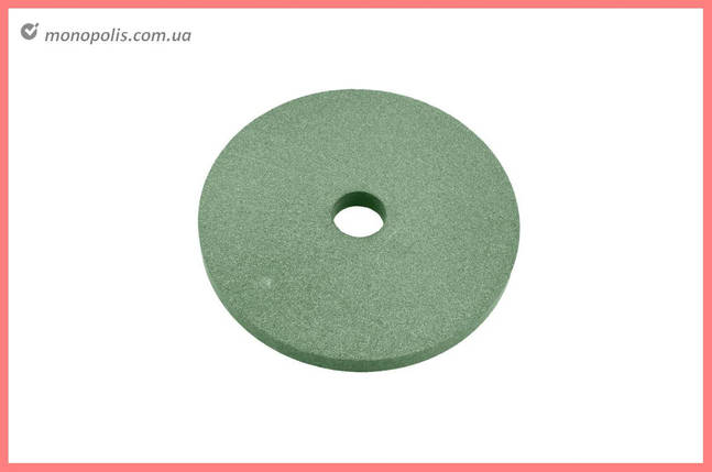 Круг керамика ЗАК - 150 х 16 х 32 мм (64С F80) зеленый, фото 2