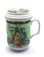 """Чашка заварочная с ситом 330мл """"Гейши"""" h-13cм, Ø 7,5см (27337)"""