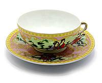 "Чашка+блюдце фарфор 150мл ""Розовый"" h-4,5см, Ø 9,5см Ø блюдца-13см (24418)"