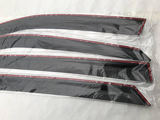 Дефлекторы окон Mazda 3 I Hb 2003-2008 Ветровики ANV накладки