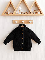 """Вельветовая куртка бомбер """"Line"""" черная, фото 1"""