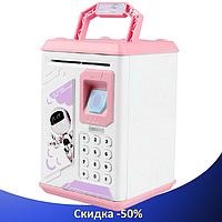 Дитячий сейф скарбничка Robot Bodyguard №.906 з відбитком пальця, кодовим замком і купюропріємником