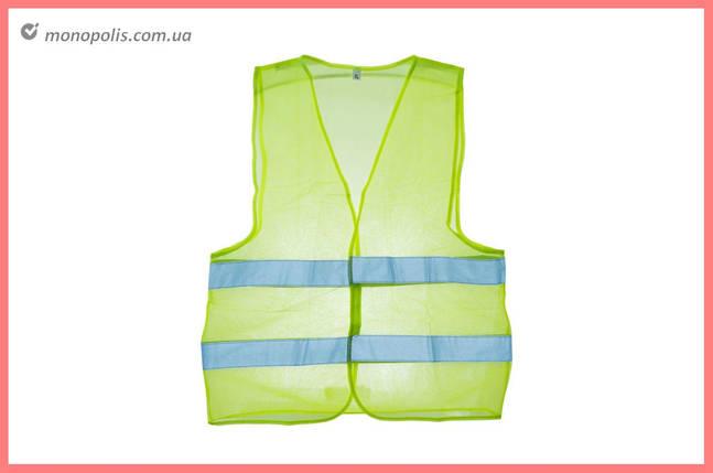 Жилет светоотражающий Intertool - XL зеленый, фото 2