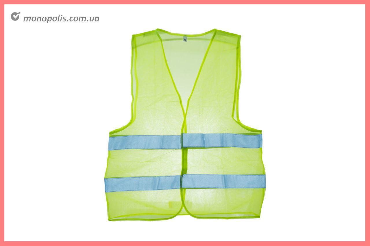 Жилет светоотражающий Intertool - XL зеленый