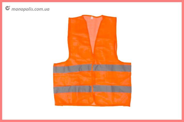 Жилет светоотражающий Intertool - XL оранжевый, фото 2