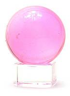 Шар хрустальный на подставке розовый (4см)