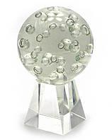 Шар хрустальный на подставке с пузырьками (10см)