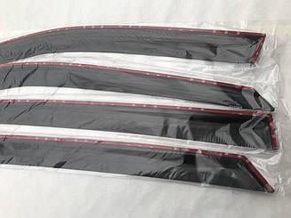 Дефлекторы окон VW Caddy III 2d 2004- Ветровики ANV накладки