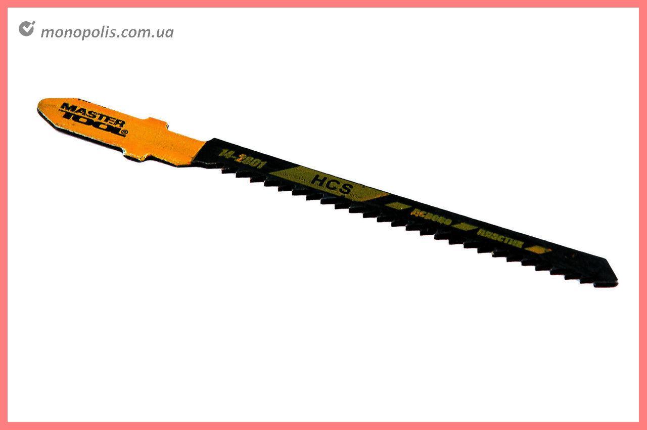 Пиляльне Полотно для лобзика Mastertool - 53 х 2 мм, дерево-пластик (5 шт.)