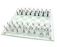 Шахматы с рюмками 25х25х5,5см (22876)