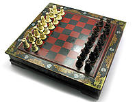 Шахматы антик 38х38х8см (27214)
