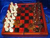 Шахматы антик 28,5 Х 14Х9,5см (1541)