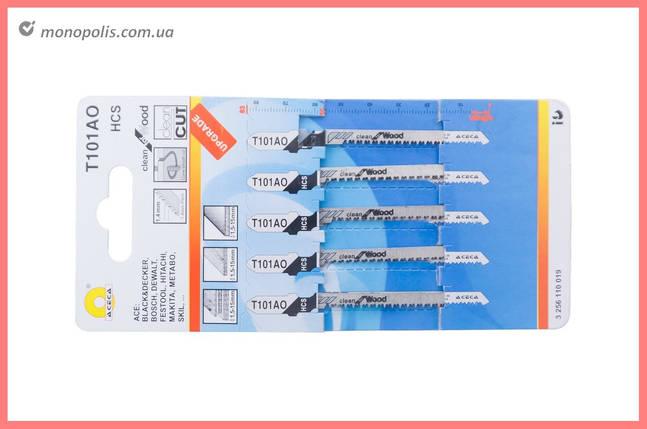 Пиляльне Полотно для лобзика Асеса - T101AO (5 шт.), фото 2