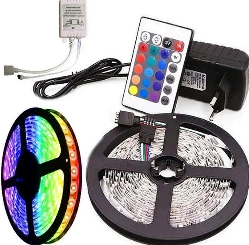 Світлодіодна стрічка 3528 RGB 300 LED комплект 5м з пультом і блоком живлення