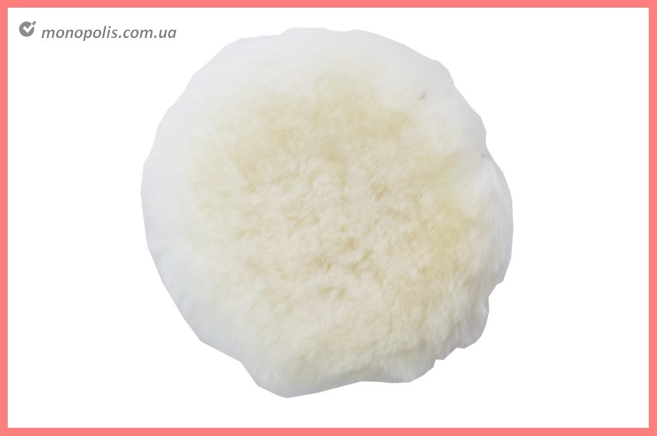 Круг полировальный овчина Асеса - 125 мм на липучке