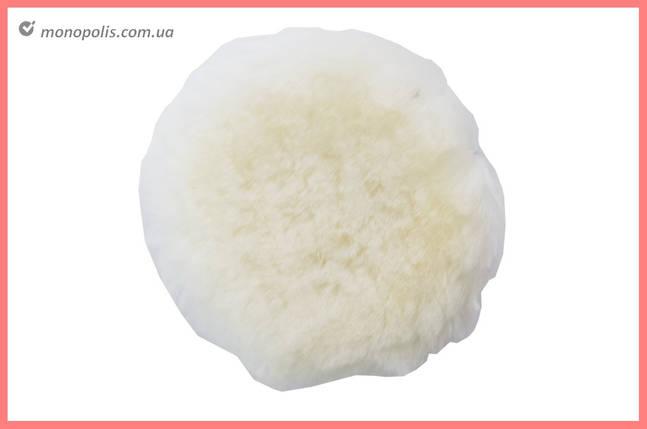 Круг полировальный овчина Асеса - 125 мм на липучке, фото 2