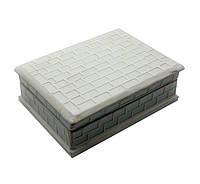 Шкатулка для украшений с мозаикой белая (18,5х13,5х6см)