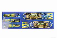 Наклейки  Ява  (165-480mm, синие)