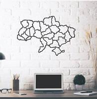 Объемная картина из дерева (Карта Украины) Ukraine map 75*49 см
