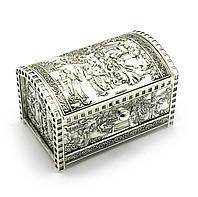 Шкатулка металл с зеркальцем 15х9х9,5см (27931)
