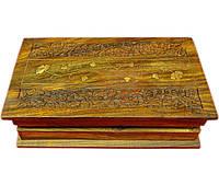 "Шкатулка розовое дерево ""Книга"" 25,5х15х6,5см (21641)"