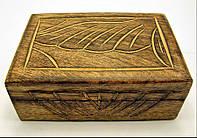 """Шкатулка из мангового дерева """"Антик"""" 15х10х6см (18092)"""
