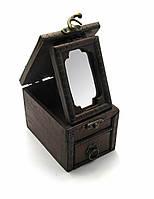 Шкатулка с зеркалом 12х8,5х8,5см (27141)