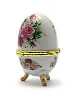 Шкатулка яйцо 10х6х6см (28780)