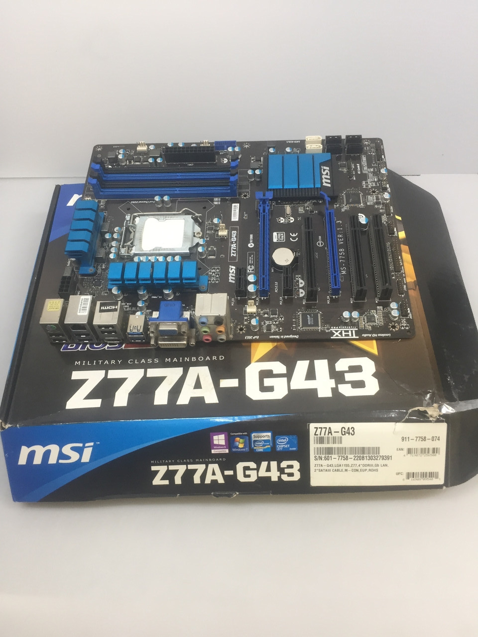 Материнская плата MSI Z77A-G43 (Socket LGA 1155, Intel Z77)