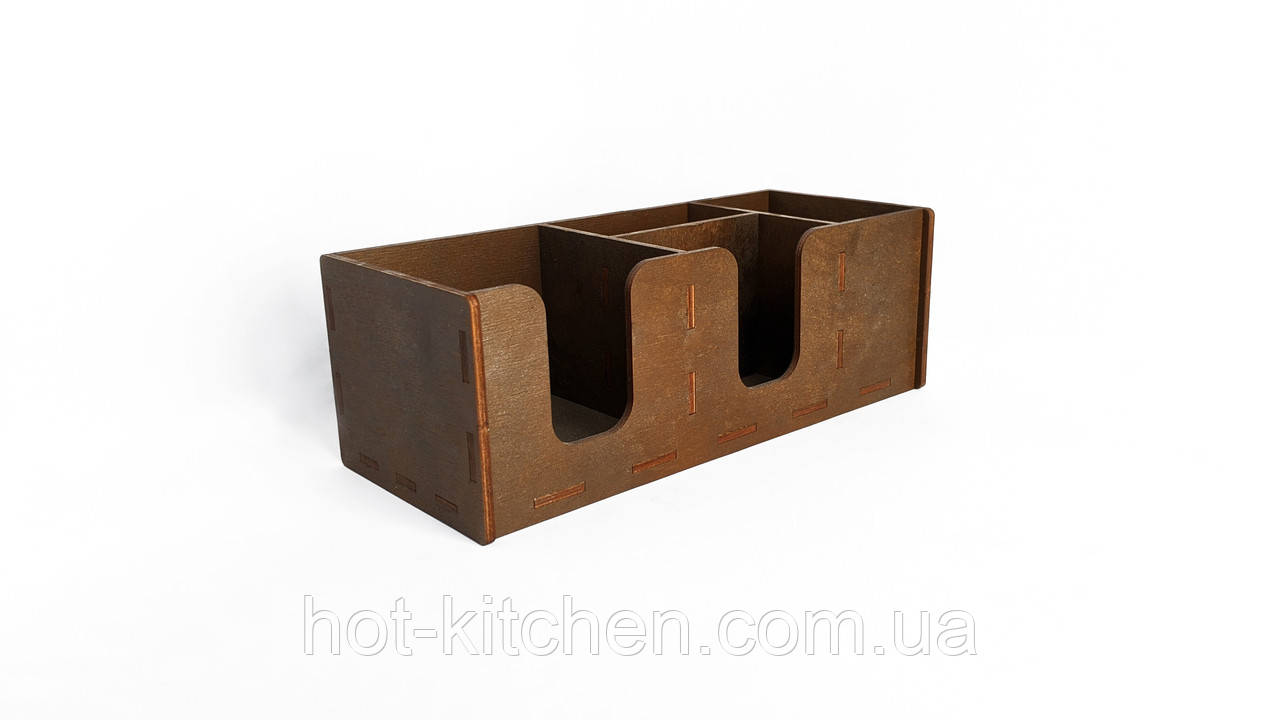 Барный органайзер деревянный, 11х32х13см